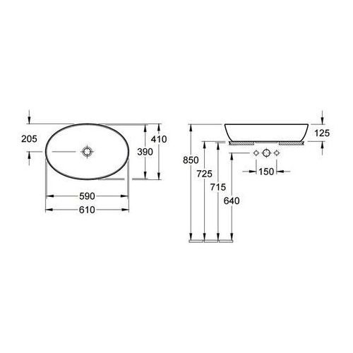 Umywalki, Villeroy & Boch Artis 61 x 41 (4198 61 01)