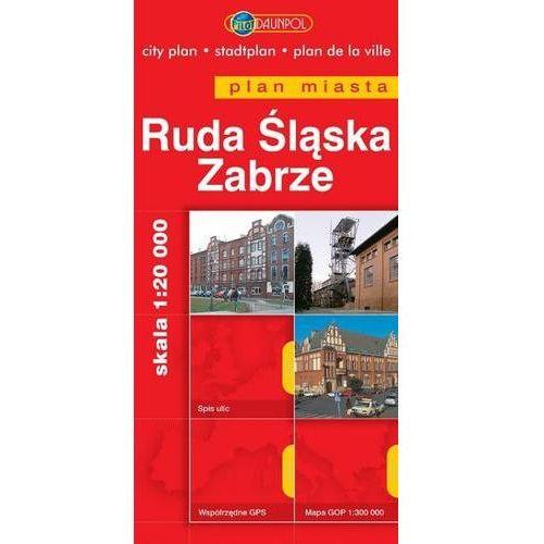 Mapy i atlasy turystyczne, Ruda Śląska. Zabrze. Plan miasta w skali 1:20 000 - Praca zbiorowa (opr. miękka)