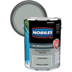 Emalia chlorokauczukowa Nobiles do metalu i betonu popielata średnia 5 l