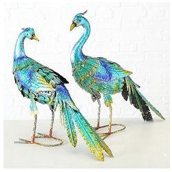 Ptak PAW INDYJSKI - METALOPLASTYKA 50 cm figurka ogród