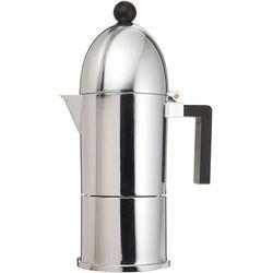 Alessi Kawiarka do espresso z alumninium z czarną rączką duża (A9095/6 B) Darmowy odbiór w 21 miastach!