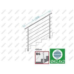 Balustrada nierdzewna AISI304, D42,4/5xd12/H1000/L