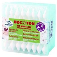 Patyczki do uszu, BOCOTON Ekologiczne patyczki kosmetyczne dla dzieci BIO 60szt