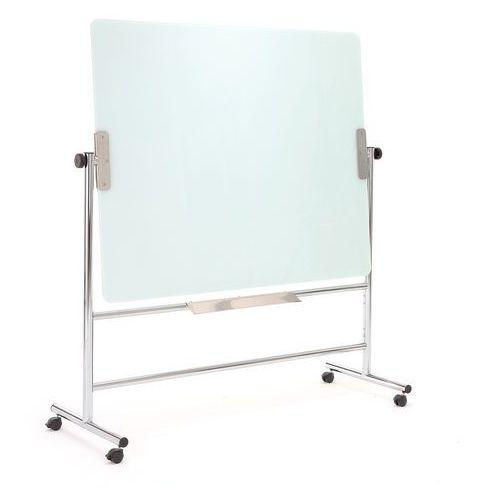 Tablice i flipcharty, Szklana tablica suchościeralna, obrotowa, 1200x900 mm, biały