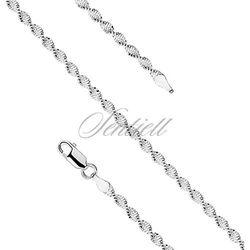 Bransoletka ozdobna srebrna pr. 925 taśma skręcana Ø 020 waga od 1,2g - Bez powłoki