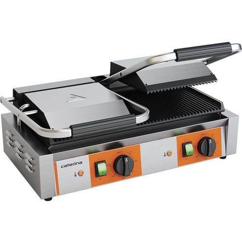 Grille gastronomiczne, Grill kontaktowy podwójny ryflowany 3.6 kW Caterina