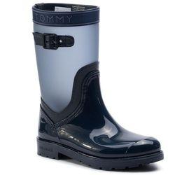 Kalosze TOMMY HILFIGER - Translucent Detail Rain Boot FW0FW04126 Tommy Navy 406