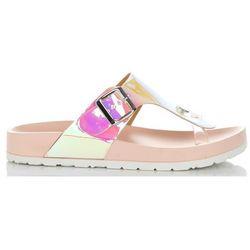Stylowe Klapki Damskie z możliwością poszerzenia marki Idea Shoes Różowe (kolory)