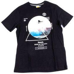 koszulka BENCH - Beach Photo Graphic Tee Black Beauty (BK11179) rozmiar: XL