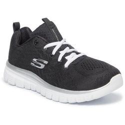 Buty SKECHERS - Get Connected 12615/BKW Black/White