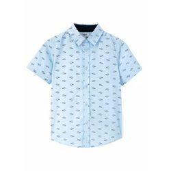 Koszula z krótkim rękawem Regular Fit bonprix jasnoniebieski z nadrukiem