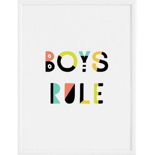 Plakaty, Plakat Boys Rule 50 x 70 cm