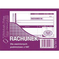 Rachunek dla zwol. podmiot. z Vat Michalczyk&Prokop 234-5 - A6 (oryginał+kopia)