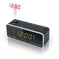 Radiobudziki, Muse Clock radio M-188P Black, 0.9 inch amber LED, with dimmer
