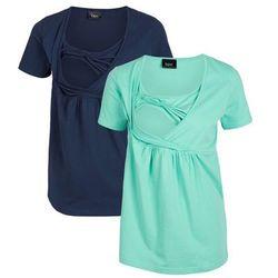 Shirt ciążowy i do karmienia bonprix ciemnoniebiesko-niebieski mentolowy