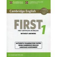 Książki do nauki języka, Cambridge English First 1 Student's Book without answers - wyślemy dzisiaj, tylko u nas taki wybór !!! (opr. miękka)