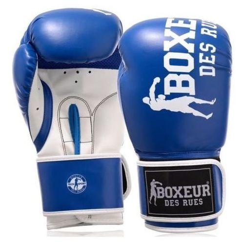 Rękawice do walki, Rękawice bokserskie BOXEUR BXT-5124 (rozmiar 14 oz) Niebiesko-biały