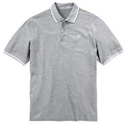 Shirt polo Regular Fit bonprix jasnoszary melanż