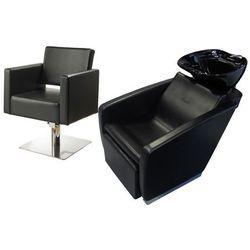 Zestaw Mebli Fryzjerskich - Myjnia Vasto Z Czarną Misą + 1 x Fotel Modena