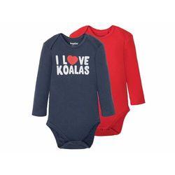 LUPILU® Body niemowlęce z długim rękawem, 2 sztu