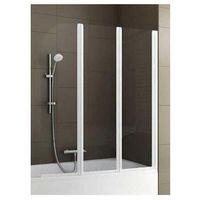 Parawany do wanien, Parawan nawannowy Modern 3 szkło biały Aquaform 170-06953