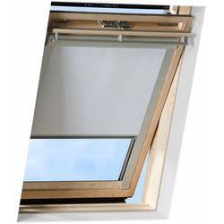 Roleta na okno dachowe VELUX manualna Standard DKL FK08 66x140 zaciemniająca szara