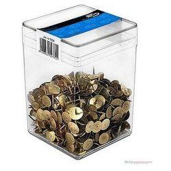 Pinezki złote E&D PLASTIC plastikowe pudełko 750szt.