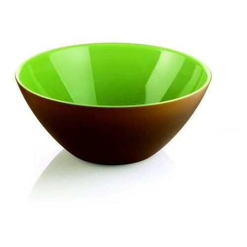 Misy i miski, Guzzini - My Fusion - misa 20 cm, brązowo - zielona - zielony ||brązowy