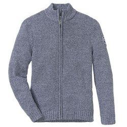 Sweter rozpinany z bawełny z recyklingu bonprix ciemnoniebiesko-biały melanż