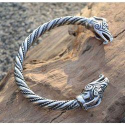 Bransoleta celtyckie smoki srebro SBR301
