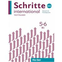 Książki do nauki języka, Schritte International Neu 5/6 Testtrainer HUEBER - Praca zbiorowa (opr. miękka)