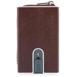 Piquadro B2S Etui na karty bankowe RFID skórzana 6 cm dark brown ZAPISZ SIĘ DO NASZEGO NEWSLETTERA, A OTRZYMASZ VOUCHER Z 15% ZNIŻKĄ