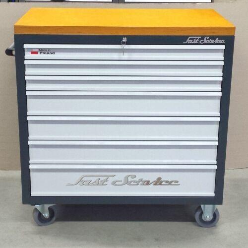 Wózki i stoły narzędziowe, Wózek narzędziowy - 7 szuflad - do warsztatu, do fabryki, linia produkcyjna