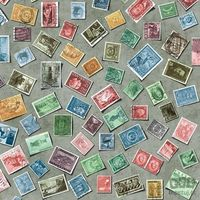 Pozostałe akcesoria meblowe, Okleina meblowa znaczki pocztowe 45cm 200-3195