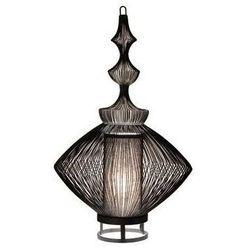 OPIUM-Lampa stojąca Metal Druciana & Bawełna Wys.62cm