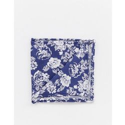 Twisted Tailor pocket square in navy floral jaquard - Navy