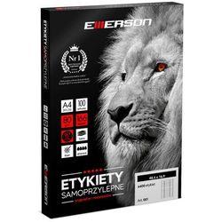 Etykiety samoprzylepne A4 Emerson, nr 32, wymiary 105 x 57 mm, opakowanie 100 arkuszy po 10 etykiet - Autoryzowana dystrybucja - Szybka dostawa - Tel.(34)366-72-72 - sklep@solokolos.pl