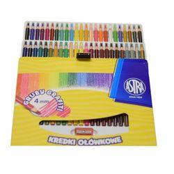 Kredki Astra Ołówkowe Hexagonalne 48 Kolorów Grafit 4 Mm