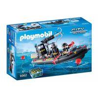 Klocki dla dzieci, Playmobil ® City Action Ponton ratunkowy SEK 9362 - czarny