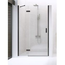New Trendy drzwi wnękowe New Renoma Black 100 lewe, wys. 195 cm, czyste szkło D-0197A