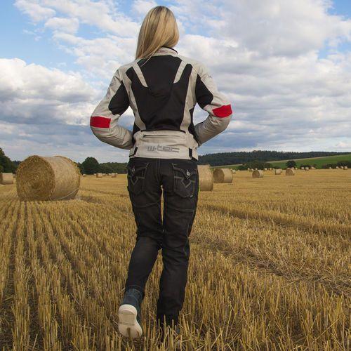 Buty motocyklowe, Buty motocyklowe skórzane W-TEC Sneaker 377, Ciemnoniebieski, 41