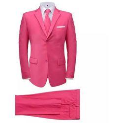 2-częściowy garnitur męski z krawatem różowy rozmiar 56