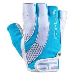 Rękawice fitness SPOKEY Zoe II Biało-niebieski (rozmiar L)