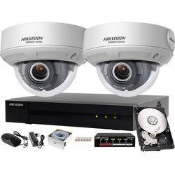 Prosty monitoring domu Hikvision Hiwatch Rejestrator IP HWN-4104MH + 2x Kamera FullHD HWI-D620H-Z + Akcesoria