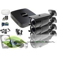 Zestawy monitoringowe, Zestaw do monitoringu: RejestratorBCS-XVR0801E, 4x Kamera LV-AL60MVT, 1TB, akcesoria