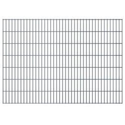 vidaXL Panele ogrodzeniowe 2D z słupkami 2008x1430 mm 8 m Szare Darmowa wysyłka i zwroty