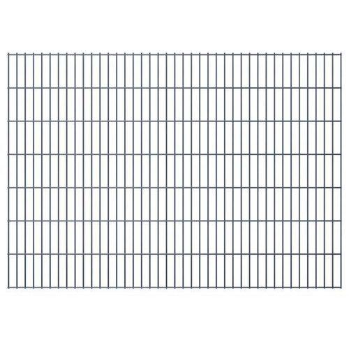 Przęsła i elementy ogrodzenia, vidaXL Panele ogrodzeniowe 2D z słupkami 2008x1430 mm 8 m Szare