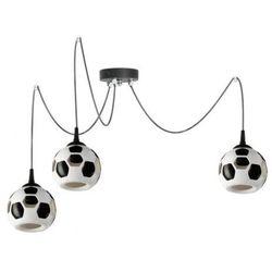 LAMPA wisząca LAMP 651/Z3 dziecięca OPRAWA zwis pająk spider piłka nożna kule balls białe czarne