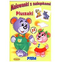 Książki dla dzieci, Malowanki z nalepkami. Pluszaki Pysia (opr. miękka)