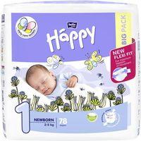Pieluchy jednorazowe, Pieluszki Happy Newborn 4 x 78 szt. + Termometr elektroniczny